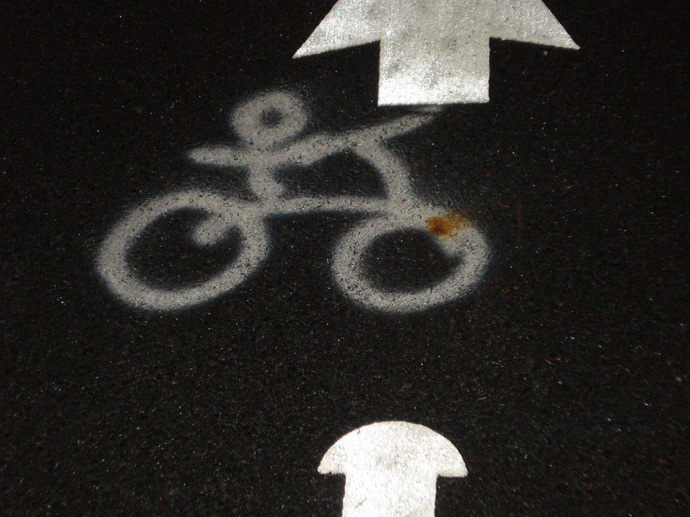 glyph in the bike path