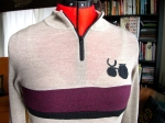 Merino wool cycling jersey