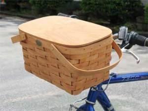 front-mounting bicycle picnic basket