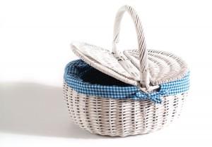 white willow bicycle picnic basket