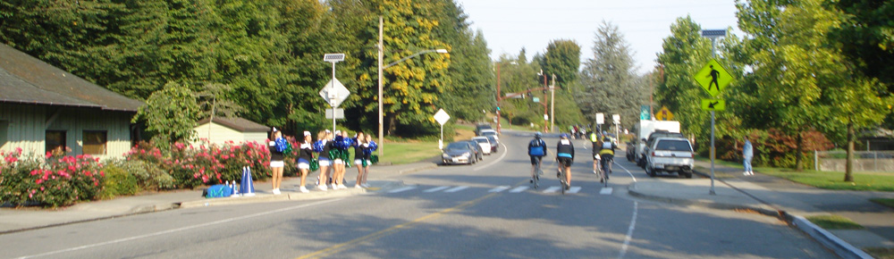 Cheerleaders at Cycle the WAVE
