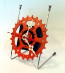 Upcycled bicycles: northwest designers: bicycle clock