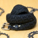 Upcycled bicycles: northwest designers: recycled tire belt