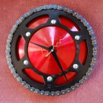 Upcycled bicycles: northwest designers: chain ring clock