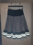 Cycling skirt with reflective accents